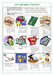 English Worksheet: Lets talk about TALENTS