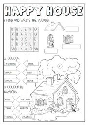English Worksheet: Happy House