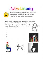English worksheets: Active Listening
