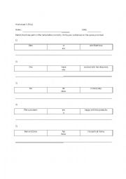 English Worksheet: Subject Verb Agreement (People)