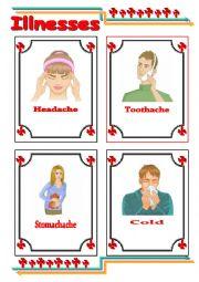 English Worksheet: Common illnesses