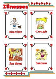 English Worksheet: Common illnesses 3