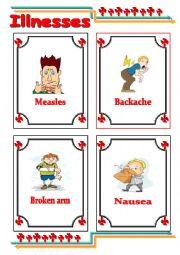 English Worksheet: Common illnesses 2
