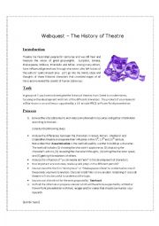 English Worksheet: Webquest . The History of Theatre