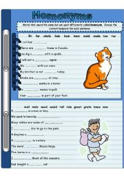 English Worksheet: Homonyms 2