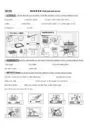 English Worksheet: recipe : scones