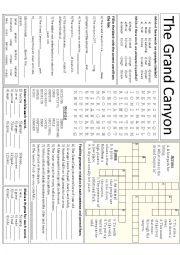 Grand Canyon mini-task worksheet