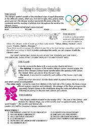 English Worksheet: olympic games symbols