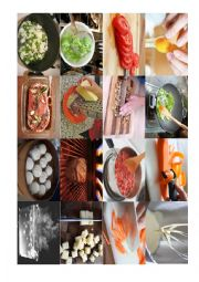 English Worksheet: cooking vocabulary memory game