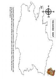English Worksheet: Treasure Maps