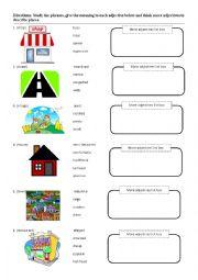 English Worksheet: Adjective noun phrase worksheet