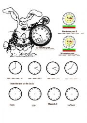 English Worksheet: Time using some words