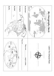 English Worksheet: Geography Book/Worksheet