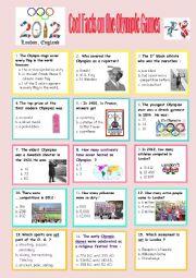 English Worksheet: fun quiz on the Olympics