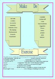 English worksheet: Make & Do