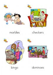 English Worksheet: What are they playing? games flash cards 13-24 of 24
