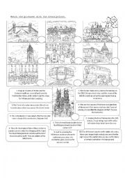English Worksheet: London 2012 - Touristic Places