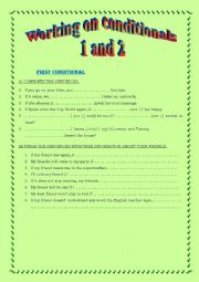 Working with Conditionals 1 and 2