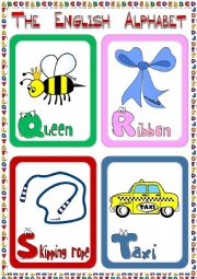 English Worksheet: The English Alphabet - flashcards (3)