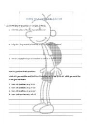 English Worksheet: Diary of a Wimpy Kid - Book