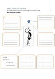 "English worksheets: Characters in ""Diary of a Wimpy Kid"""