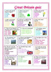 English Worksheet: Great Britain quiz