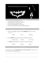 How Much Would It Cost to Become Batman?
