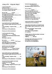 English Worksheet: Song: Taylor Swift - Long Live
