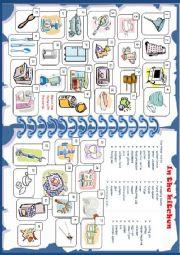 English Worksheet: KITCHEN