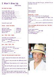 English Worksheet: Having fun with music : Song :