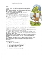 English Worksheet: the frog and the fox