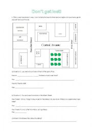 English Worksheet: Don�t get lost!