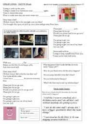 English Worksheet: Norah Jones - Happy Pills