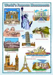 English Worksheet: World�s Famous Monuments (1)