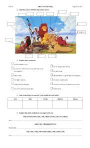 English Exercises Lion King