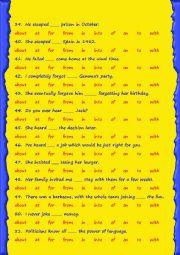 Verbs followed by prepositions - 2/2
