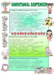 English Worksheet: CONDITIONAL SENTENCES