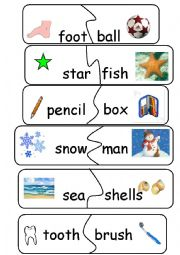English Worksheet: Compund Words/Game - set 3