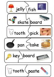 English Worksheet: Compund Words/Game - set 4