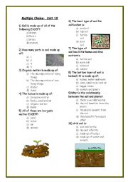 English Worksheet: Soil: multiple choice worksheet