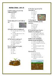 Worksheets Soil Worksheets english worksheets soil multiple choice worksheet worksheet