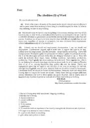 English Worksheets: Mock Bac 2007