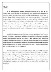 English Worksheets: full term test3