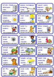 Odd one out cards game set 2