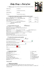 English Worksheets: Katy Perry - Part of me