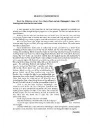 English Worksheet: Harry Potter - Reading Comprehension