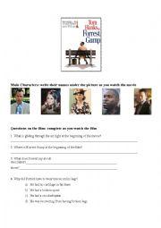 English Worksheet: Forrest Gump the film