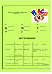 English Worksheets: Have-you-ever Bingo!