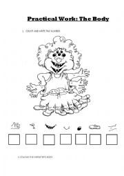 English Worksheets: the body and numbers