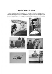 English Worksheets: Writing About Pictures